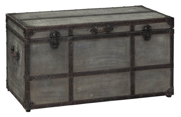 Ashley Furniture Amsel Gray Storage Trunk Cocktail Table A4000092