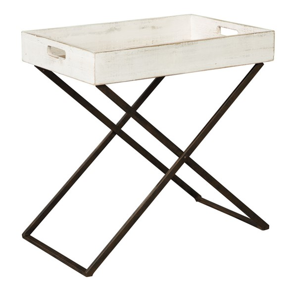 Ashley Furniture Janfield Antique White Accent Table A4000110