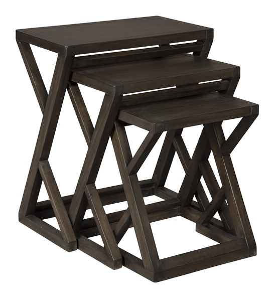 Ashley Furniture Cairnburg Brown 3pc Accent Nesting Table A4000183