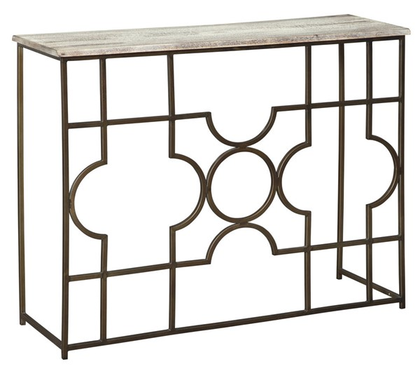 Ashley Furniture Roelsen Gold Console Sofa Table A4000198