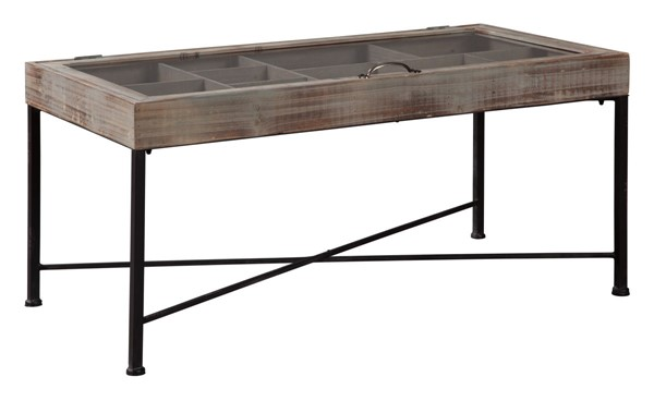 Ashley Furniture Shellmond Antique Gray Accent Cocktail Table A4000208