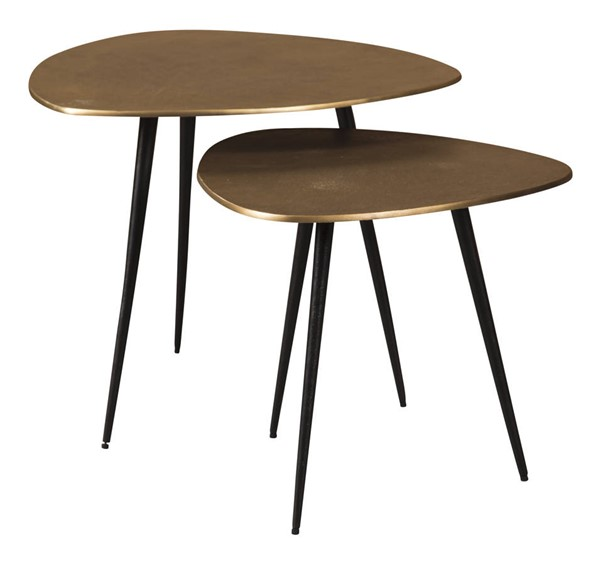 Ashley Furniture Shemleigh Black Brass 2pc Accent Table Set A4000238