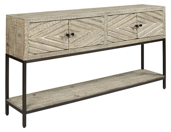 Ashley Furniture Roanley Distressed White Console Sofa Table A4000262