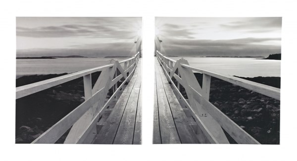 Gallery Wrapped Canvas Contemporary Black White Wall Art Set (2/Cn) A8000098