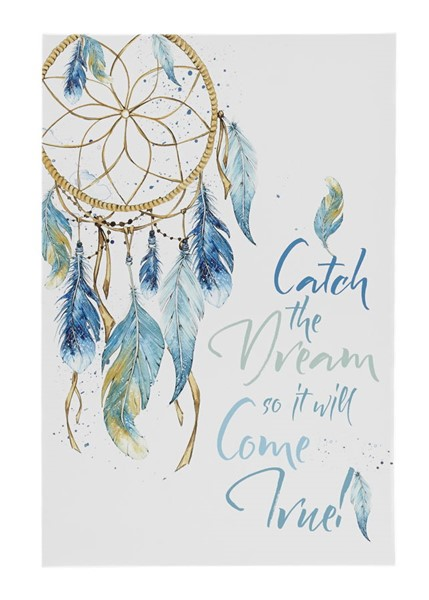 Ashley Furniture Ellis Teal White Canvas Wall Art A8000268