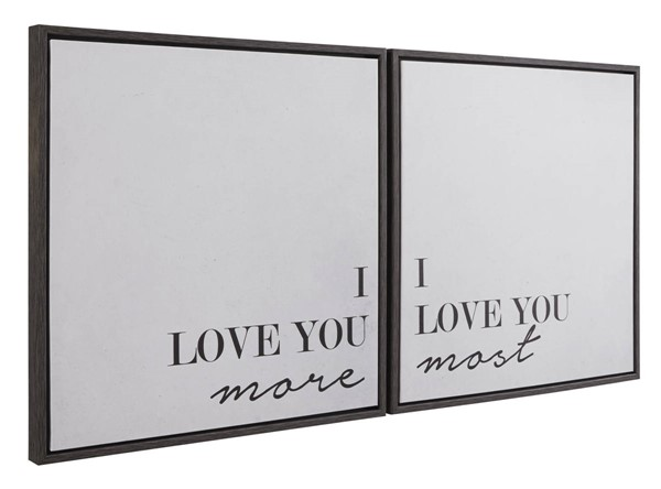 Ashley Furniture Adline Black White 2pc Wall Art Set A8000297