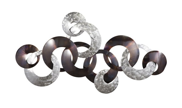 Obike Contemporary Silver Purple Metal Wall Decor A8010002