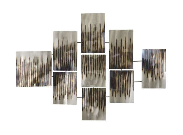Oeneus Contemporary Silver Brown Gold Metal Wall Decor A8010004