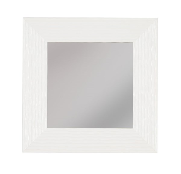 Odelyn Contemporary White Glass Accent Mirrors A801001-MR-VAR