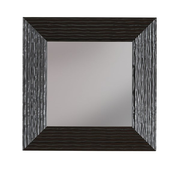 Odelyn Contemporary Black Glass Accent Mirror A8010012