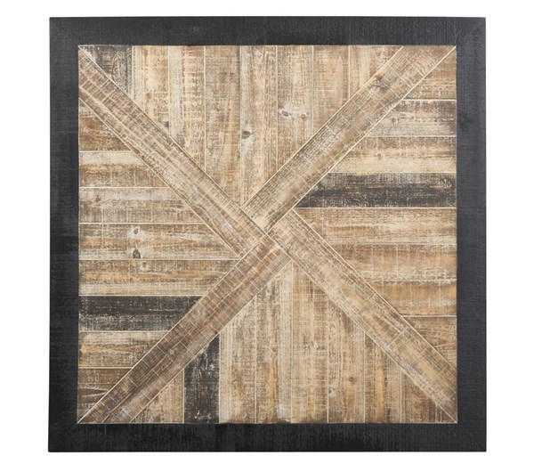 Odus Contemporary Black Natural Wood Wall Decor A8010015