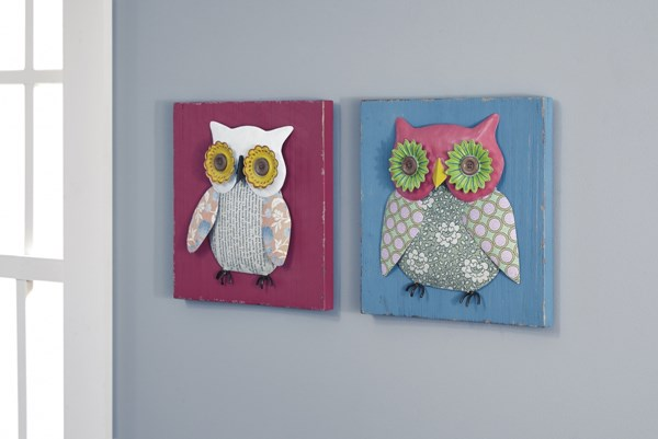2 Ody Casual Wood Metal Wall Decor Sets A8010016