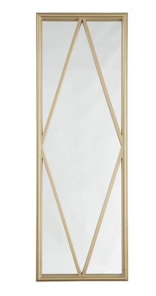 Offa Contemporary Gold Wood Glass Accent Mirror A8010032