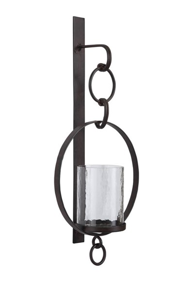 Ogaleesha Casual Brown Glass Metal Wall Sconce A8010036