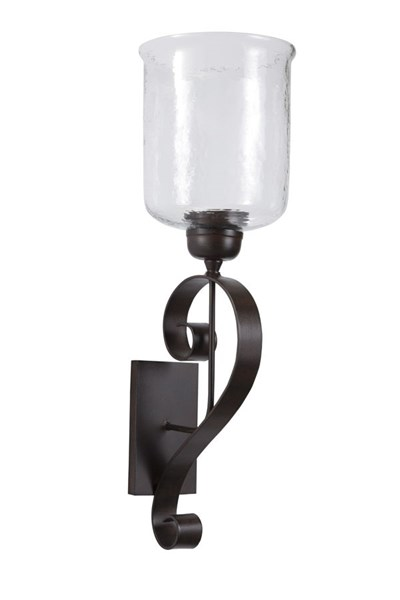 Ogilhinn Traditional Brown Metal Glass Wall Sconce A8010037