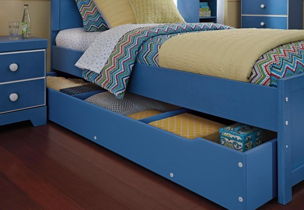 Bronilly Metro Modern Blue Trundle Under Bed Storage B045-60