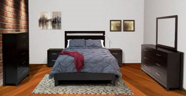 Agella Contemporary Merlot Wood 2pc Bedroom Set W/King Panel Bed B072-BR-S2