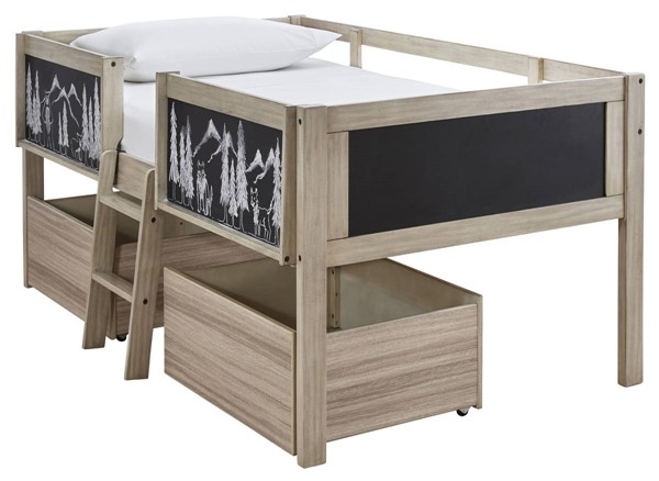 Ashley Furniture Wrenalyn Two Tone Twin Storage Loft Bed B081-TSL-BED
