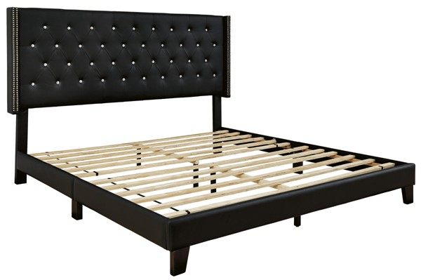 Ashley Furniture Vintasso Black Upholster King Bed B089-082