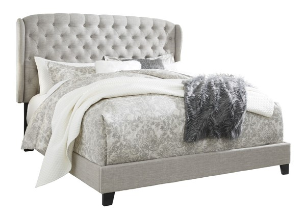 Ashley Furniture Jerary Gray King Upholstered Tufted Bed B090-982