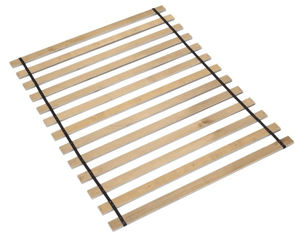 Frames And Rails Contemporary Brown Wood Full Roll Slat B100-12
