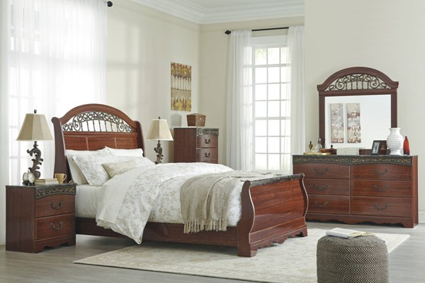 Ashley Furniture Fairbrooks Estate 2pc Bedroom Set With Queen Bed B105-BR-S1