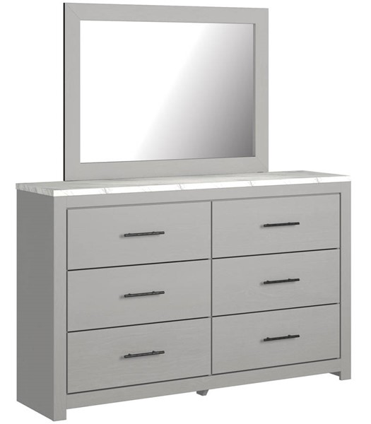 Ashley Furniture Cottonburg Light Gray White Dresser And Mirror B1192-DRMR
