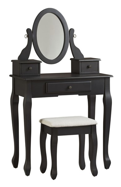 Ashley Furniture Huey Vineyard Casual Black Vanity Set B128-122