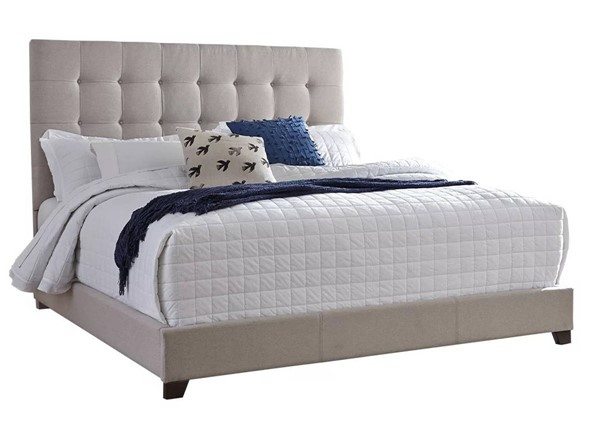 Ashley Furniture Contemporary Beige Queen Upholstered Bed B130-581