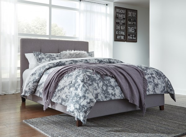 Ashley Furniture Contemporary Gray Queen Upholstered Bed B130-781