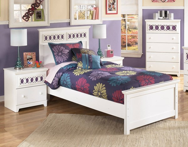 Ashley Furniture Zayley White 2pc Kids Bedroom Set With Twin Bed The Classy Home