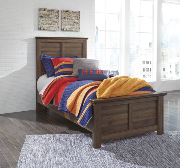 Burminson Casual Brown Wood Twin Panel Bed B135-TBED