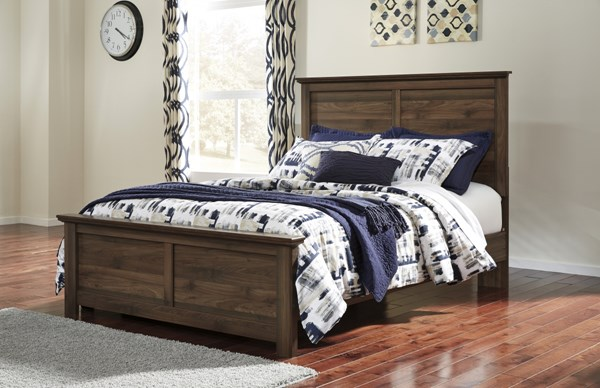 Burminson Casual Brown Wood Queen Panel Bed B135-QBED
