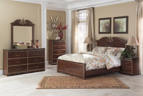 Naralyn Reddish Brown Master Bedroom Set B164-BR