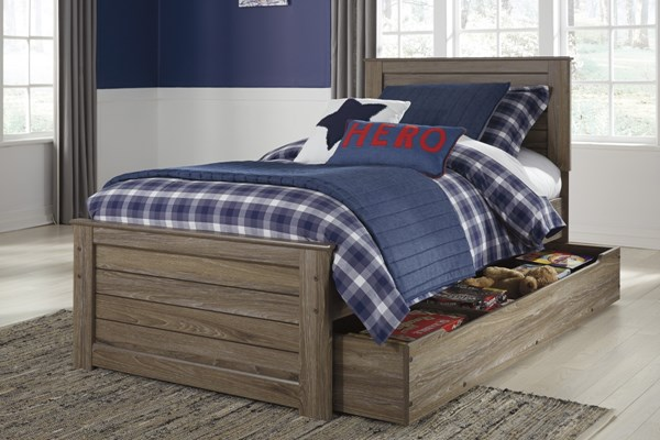 Javarin Contemporary Grayish Brown Wood Trundle Under Bed Storage B171-60