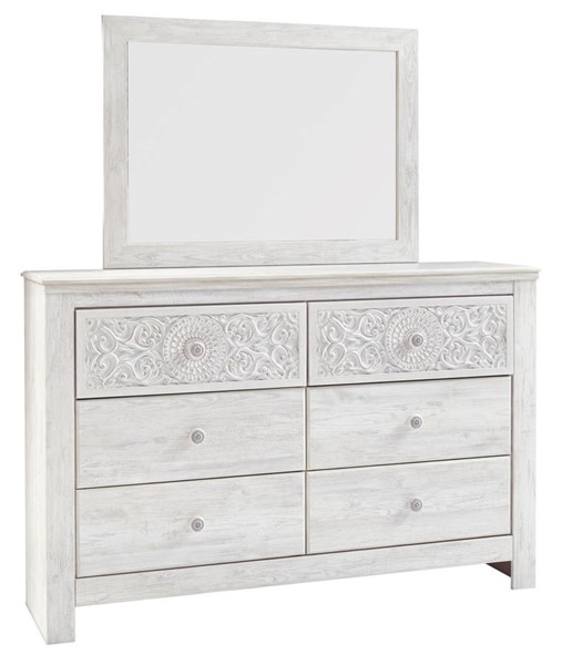 Ashley Furniture Paxberry Whitewash Dresser And Mirror B181-31-DRMR