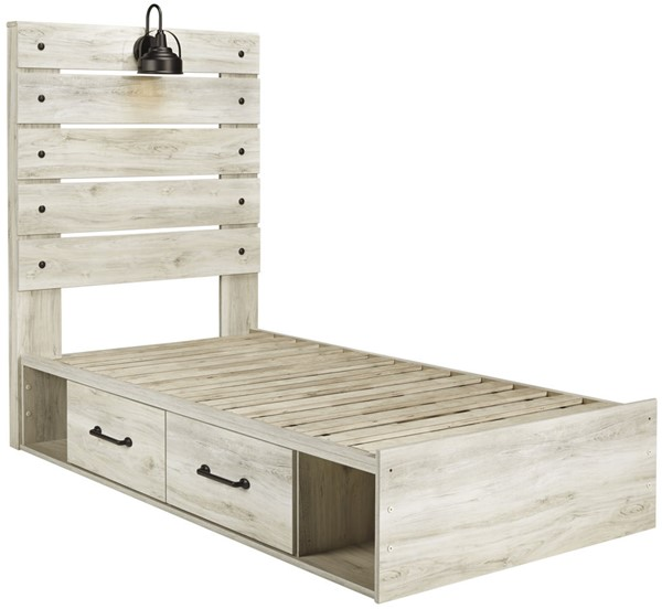 Ashley Furniture Cambeck Whitewash Side Storage Beds B192-SSBEDS