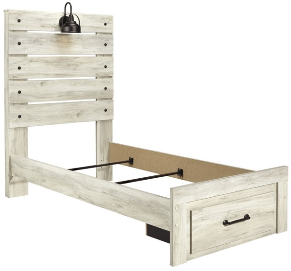 Ashley Furniture Cambeck Whitewash Footboard Storage Beds B192-BSBEDS