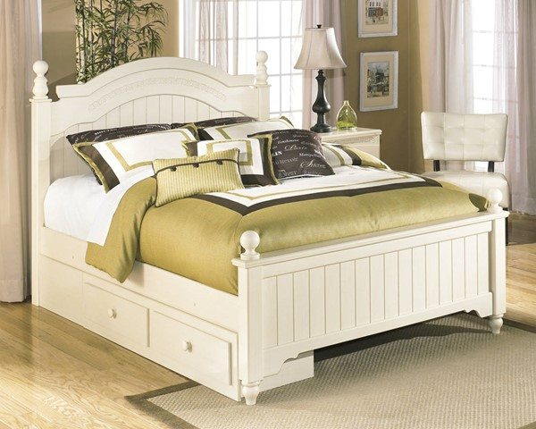 Cottage Retreat Full Poster Bed w/ Storage B213-KBedFPS