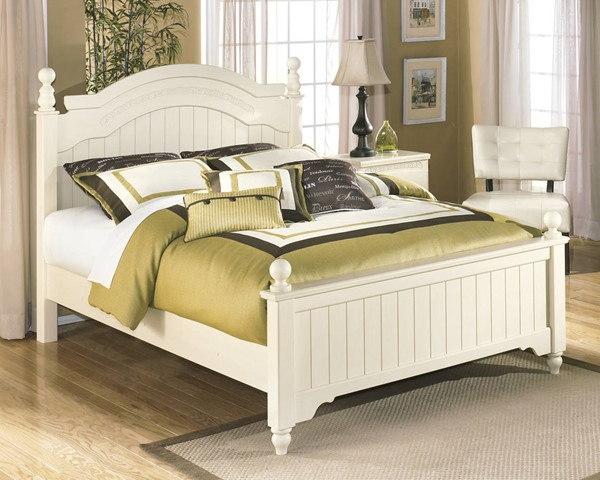 Cottage Retreat Cream Wood Full Poster Bed B213-KBedFP