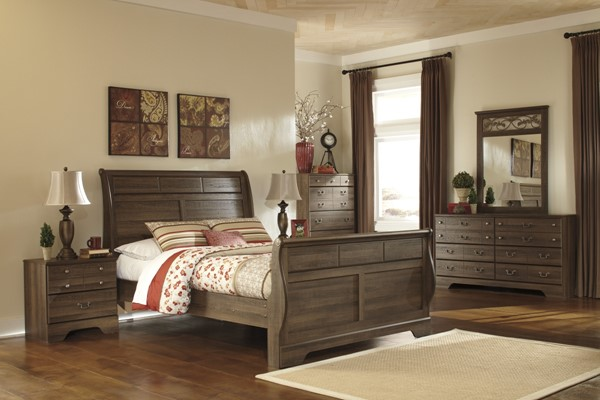Allymore Brownish Gray Wood 2pc Bedroom Set W/Queen Sleigh Bed B216-63-QSB-1