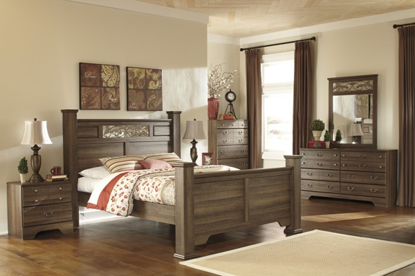 Allymore Brownish Gray Wood 2pc Bedroom Set W/King Poster Bed B216-84-KPOB-1