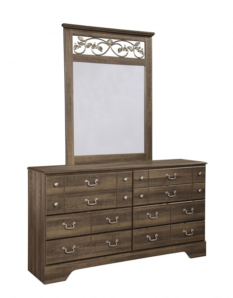 Allymore Brownish Gray Wood Dresser And Mirror B216-31-DM