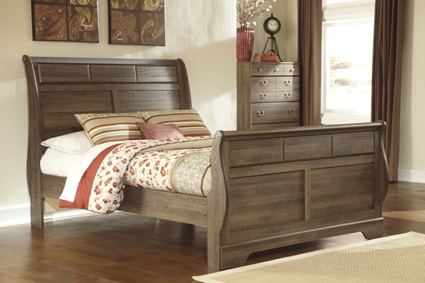 Allymore Brownish Gray Wood Queen Sleigh Bed B216-63-QSB