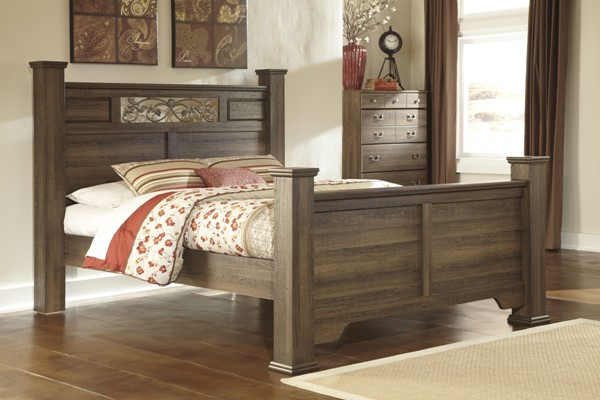Allymore Brownish Gray Wood King Poster Headboard Panel B216-87