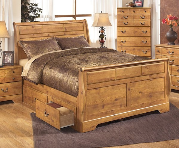 Ashley Furniture Bittersweet Sleigh Beds with Storage B219-QSS-VAR