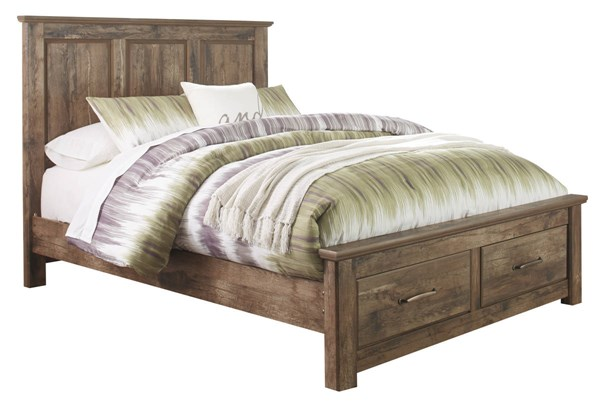 Ashley Furniture Blaneville Brown Queen Platform Storage Bed The Classy Home