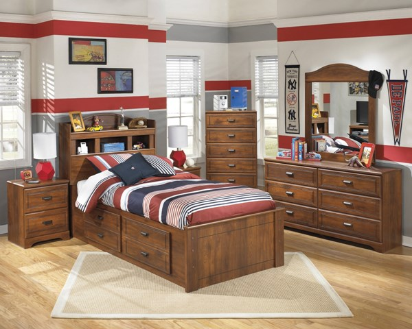 Ashley Furniture Barchan Twin Bookcase Under Storage Beds B228-BKCS-B-VAR