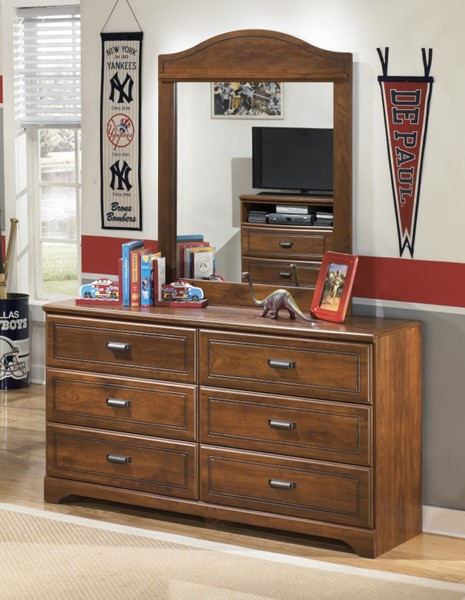 Barchan Medium Brown Wood Dresser And Mirror B228-21-26