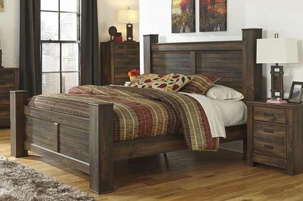 Ashley Furniture Quinden 2pc Bedroom Set With King Poster Bed The Classy Home